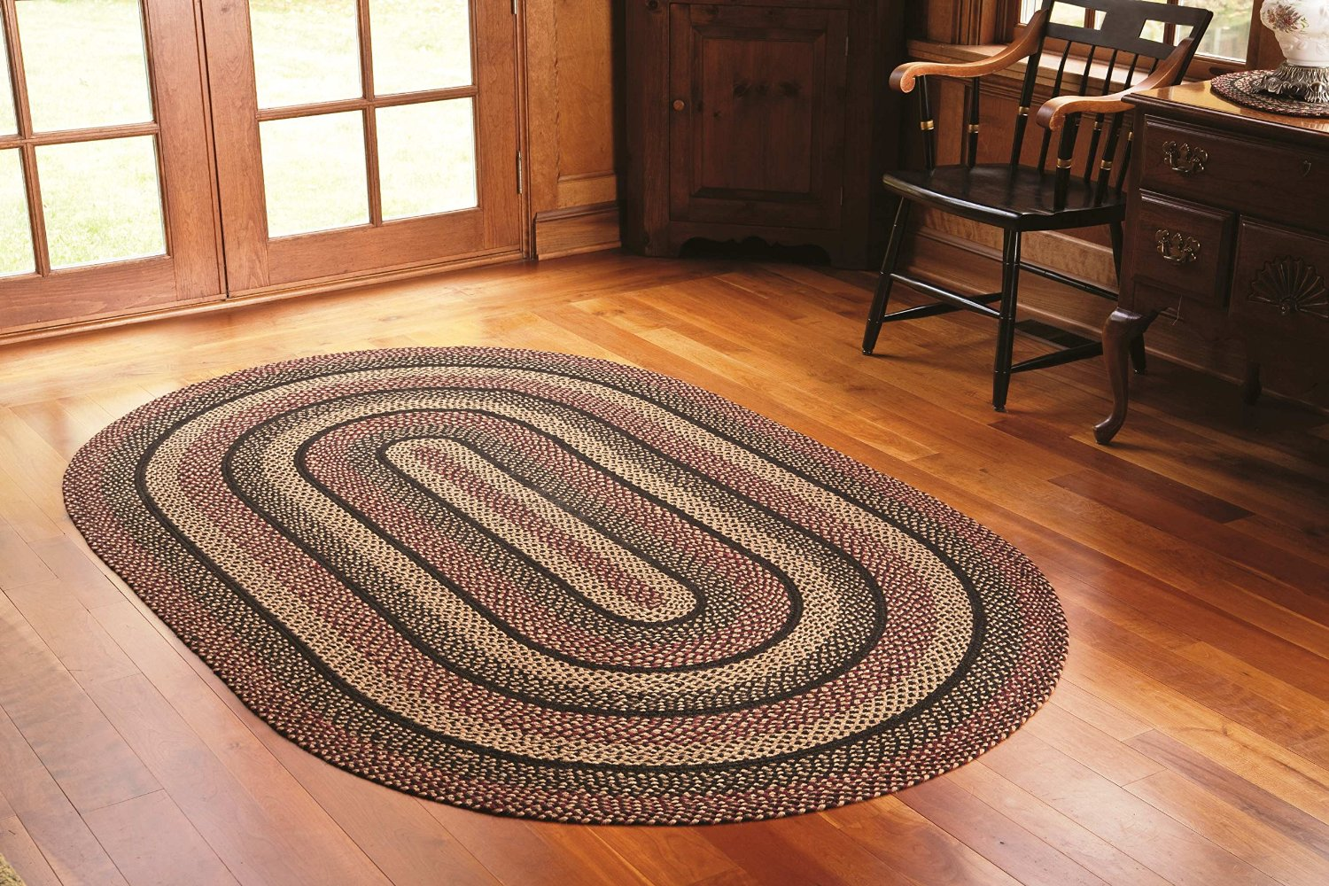 garden the braided dining rugs placemats cooking round grey serveware jute home company rug image